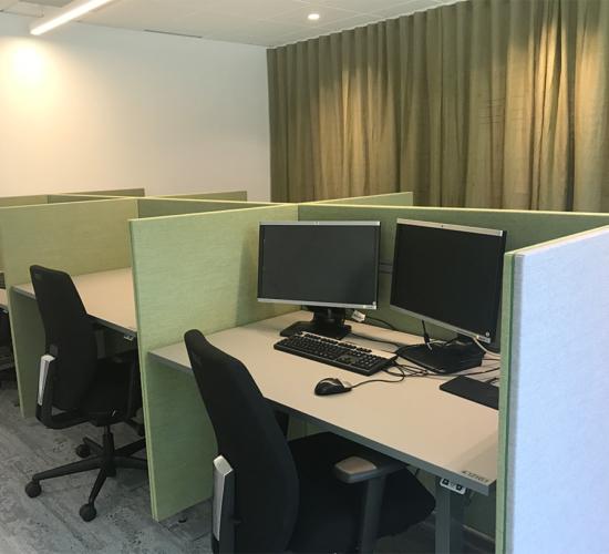 Tysta arbetsplatser
